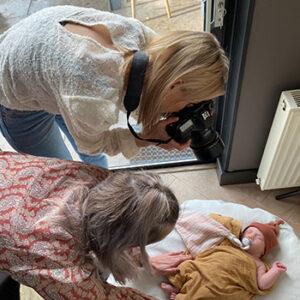 Fotoshoot Studio samsam van newborn Aiden behind the scenes pasgeboren in Wormer, Wormerland, Zaanstad