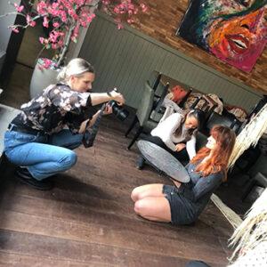 Fotoshoot Kleurkamer Alyssa behind the scenes in Wormer, Wormerland, Zaanstad